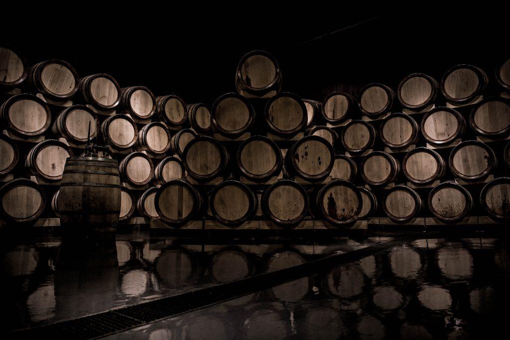 wine barrels wine making