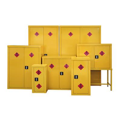 steel cabinets hazardous substances